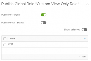 vCloud Director custom global role publish