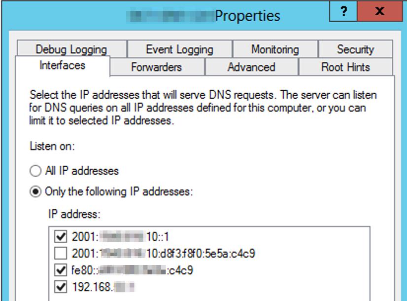 IPv6 Lab DNS config