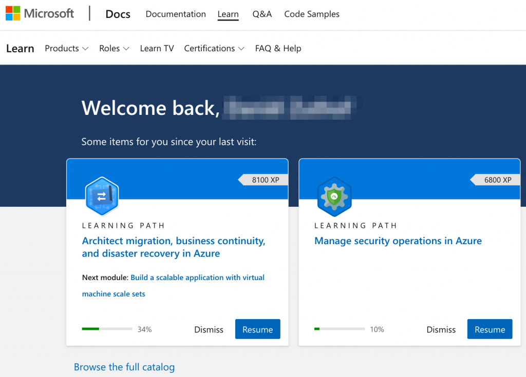 Microsoft Learn overview